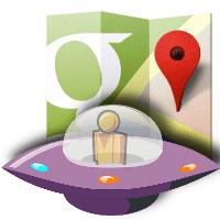 alienígeneas en google maps
