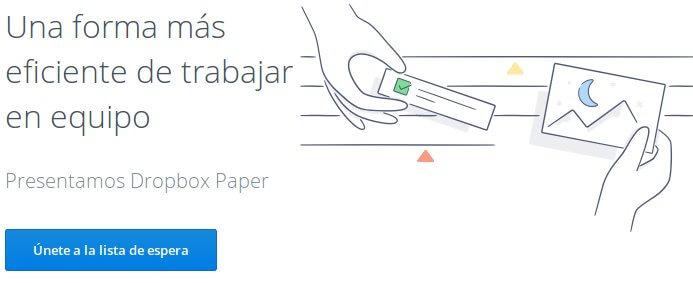 invitación gratuita a Dropbox paper