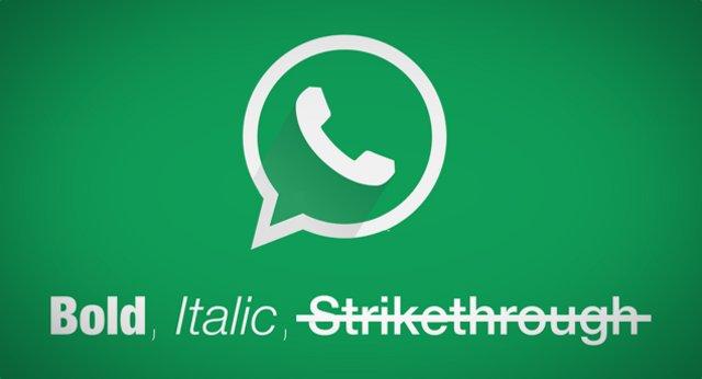 formateando texto en whatsapp