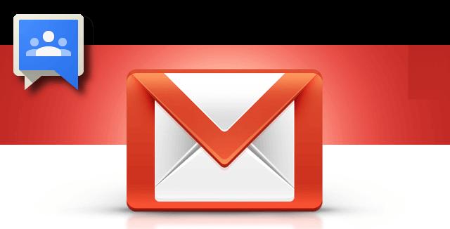 usando grupos de gmail