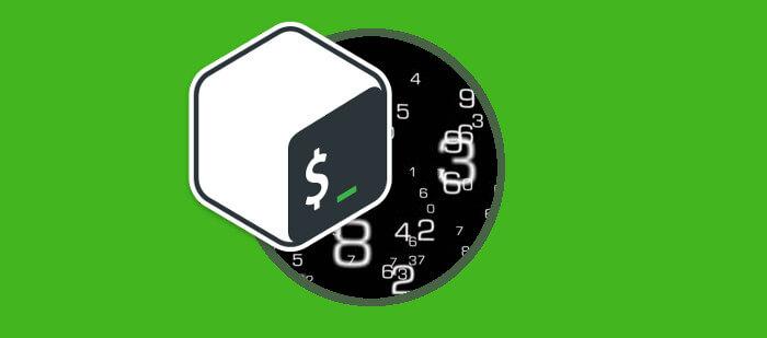 generar números en bash usando bucles