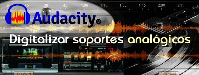 Grabando casete de audio en el ordenador con audacity
