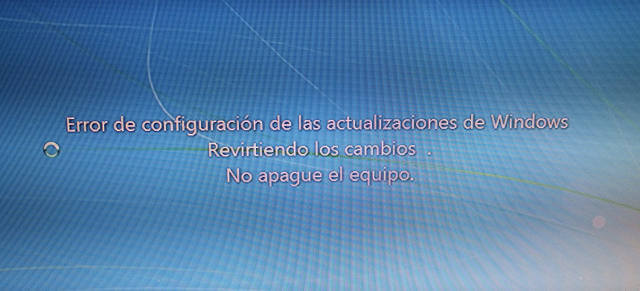 error de configuración de windows