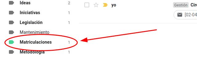 mostrar número de correos pendientes en gmail