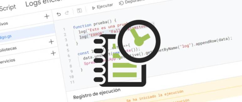 forma eficiente de mostrar logs en google apps script