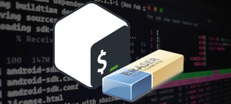 borrar contenido fichero desde la terminal