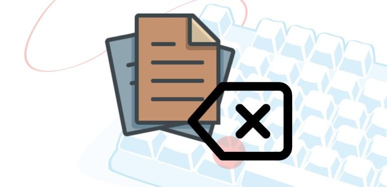 atajo de teclado para borrar texto